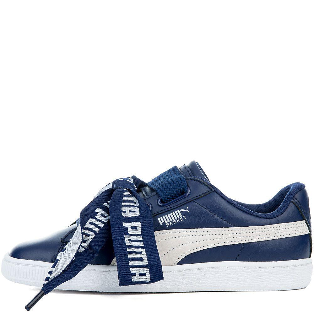 Womens basket heart de sneakers shiekh shoes womens basket heart de sneakers blue depths puma white nvjuhfo Choice Image