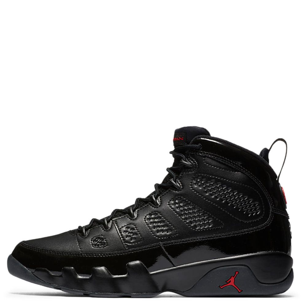 bc80e51a5720 front view of kids preschool air jordan retro 9 basketball shoes in  blackuniversity