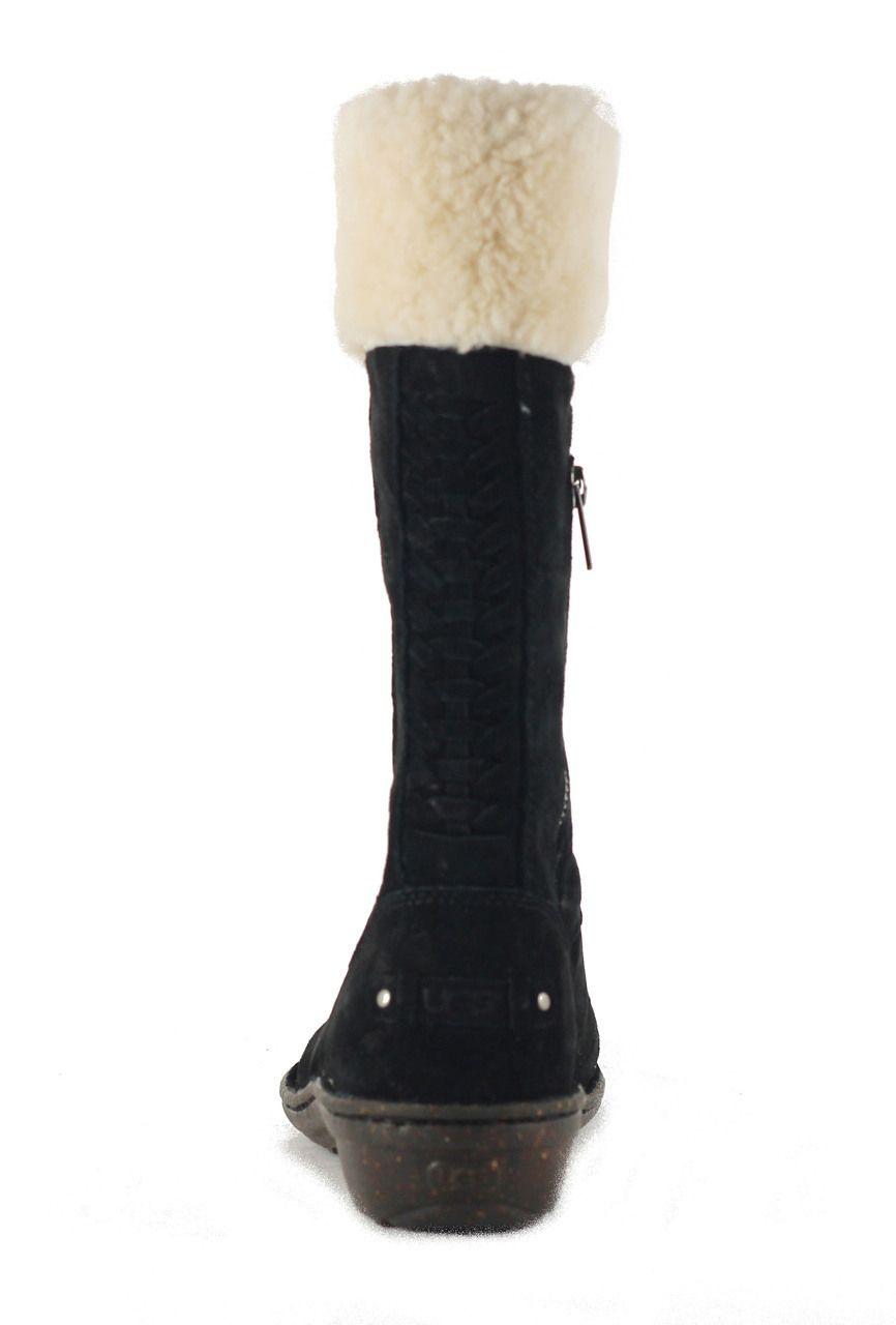 ugg australia for karyn black cuff sheepskin boot black