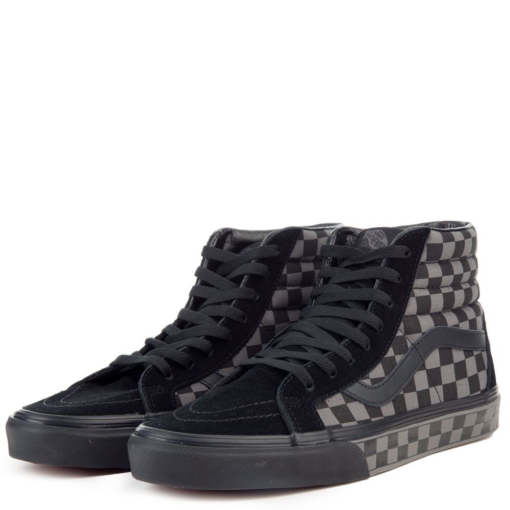vans black pewter checkerboard