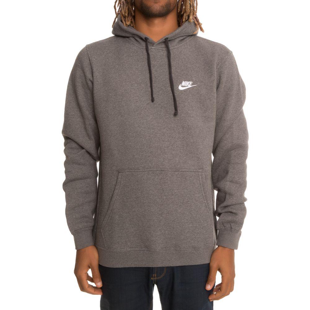 nike nike sportswear pullover fleece hoodie grey white. Black Bedroom Furniture Sets. Home Design Ideas