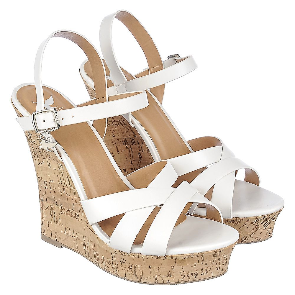 White Women's Serum-S Wedge High Heel Sandal