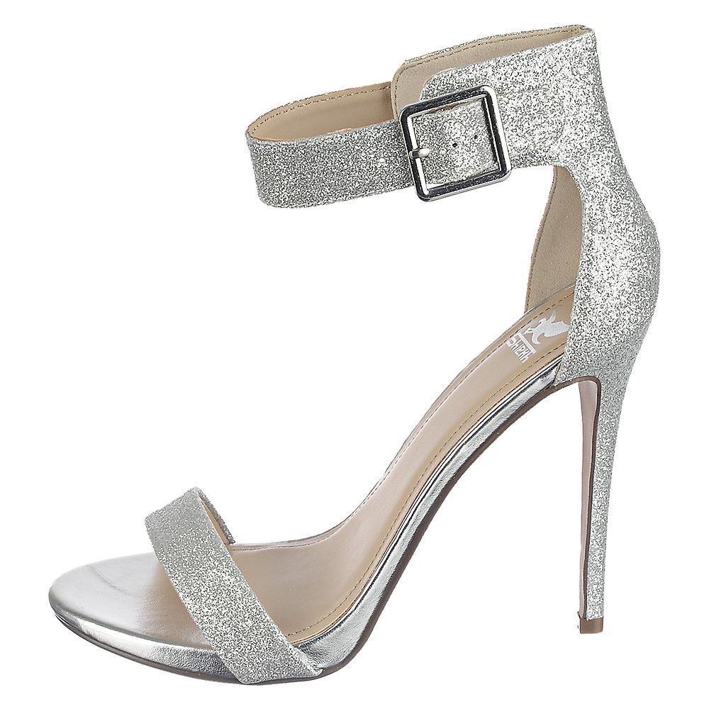 Shiekh Canter-H Women's Silver High Heel Glitter Dress Shoe ...