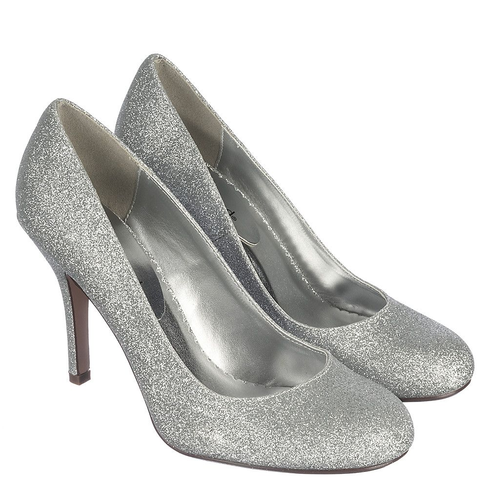 Cityclassified Class-H Women's Silver Low Heel Dress Shoes ...