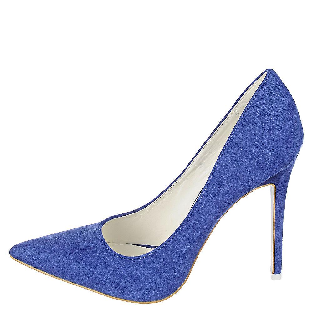 Royal Blue Women's High Heel Pump Mellina-3 - Shiekh Mellina-3 Women's Blue High Heel Dress Shoe Shiekh Shoes