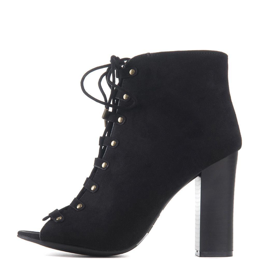 Women's Embark-29M Lace-Up High Heel Ankle Boot Boot-Black