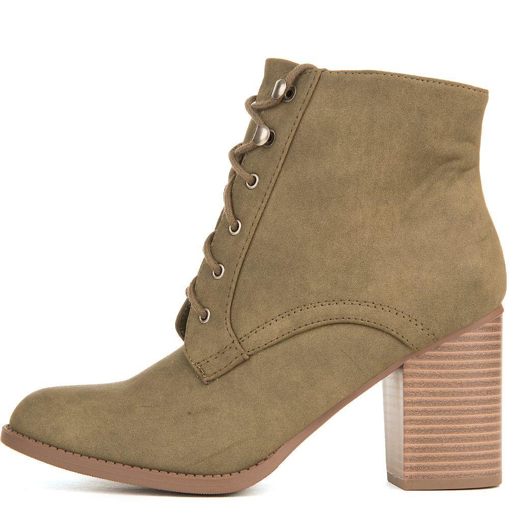 Women's B-LS2951 Low-Heel Ankle Boot Boot