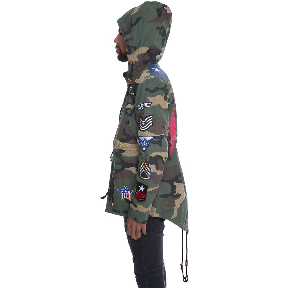 Men's Banners Camo Parka Jacket | Shiekh Shoes