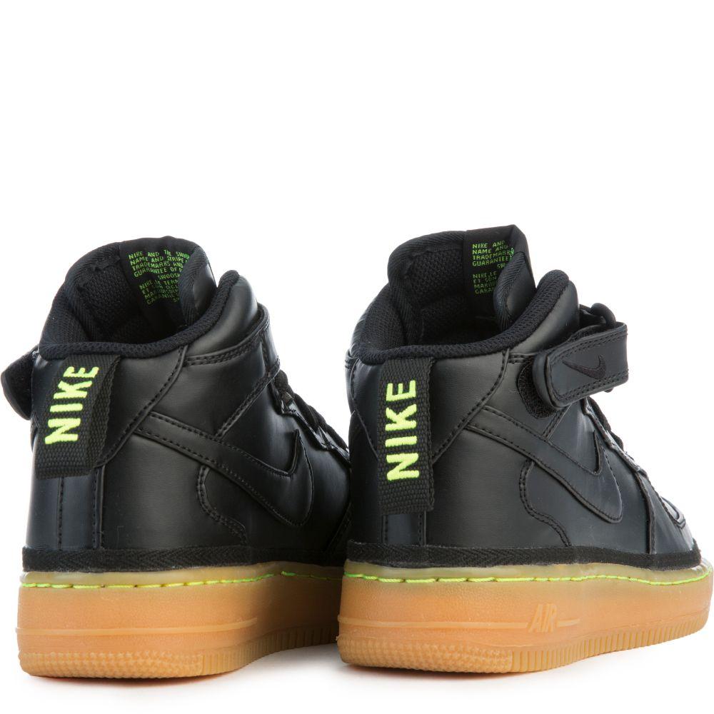 nike air force 1 black lime green