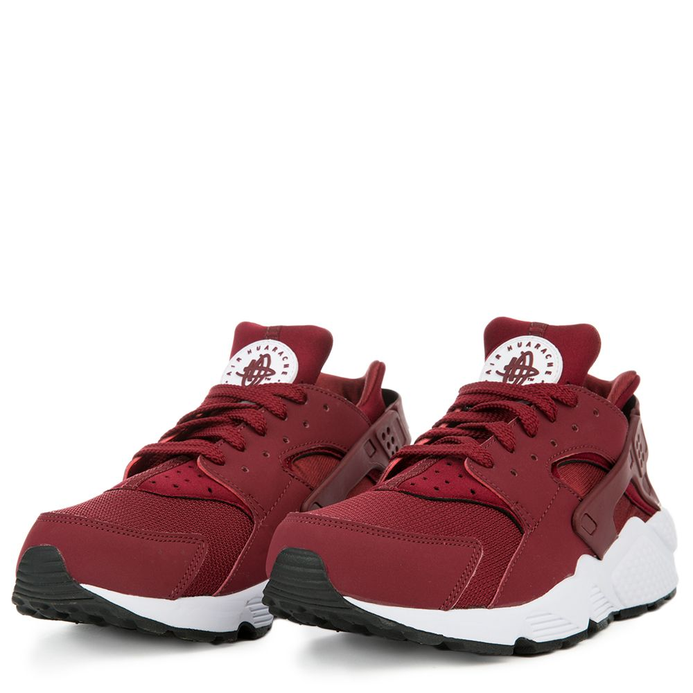 nike huarache red black white