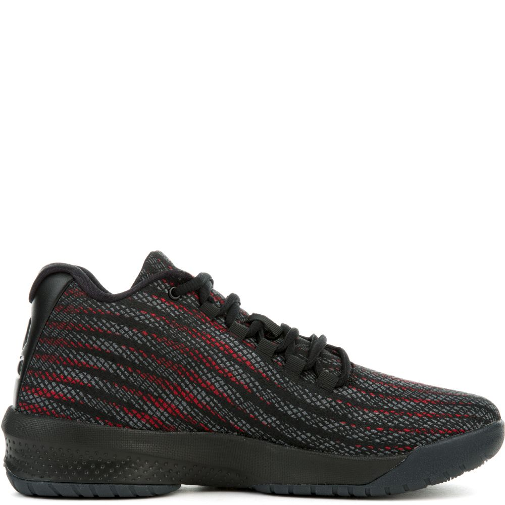 jordan b fly black red