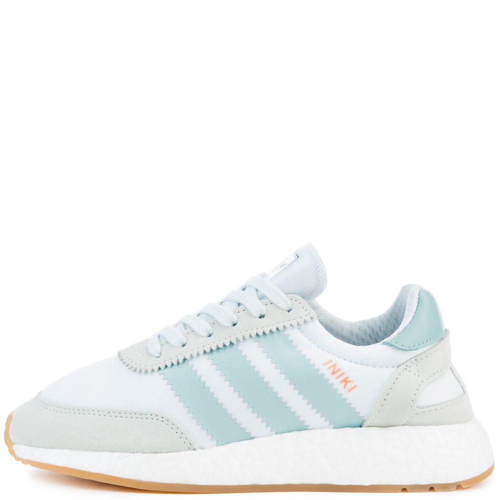 adidas iniki frauen aus weißen turnschuhen ftwwht / tacgrn / gum3