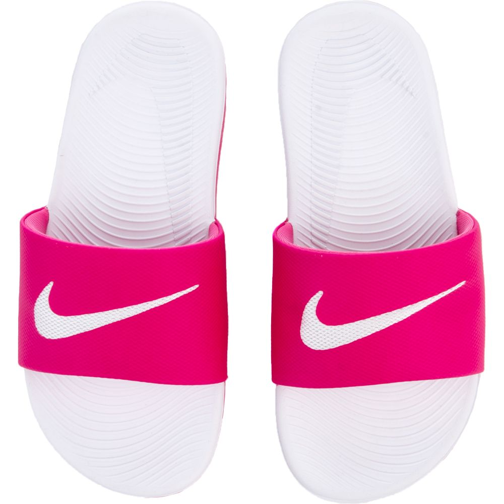 2ca3ed5b0950a5 pink and white nike slides