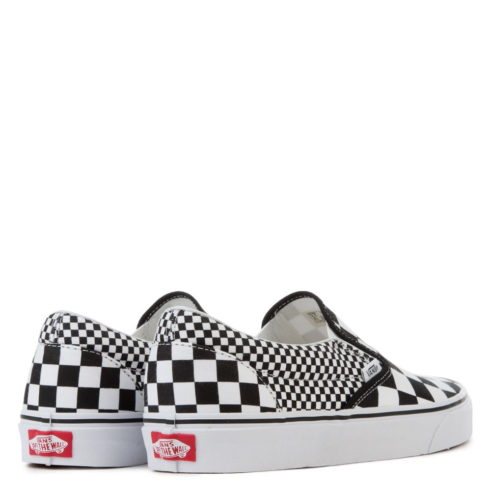 vans slip on mix checker