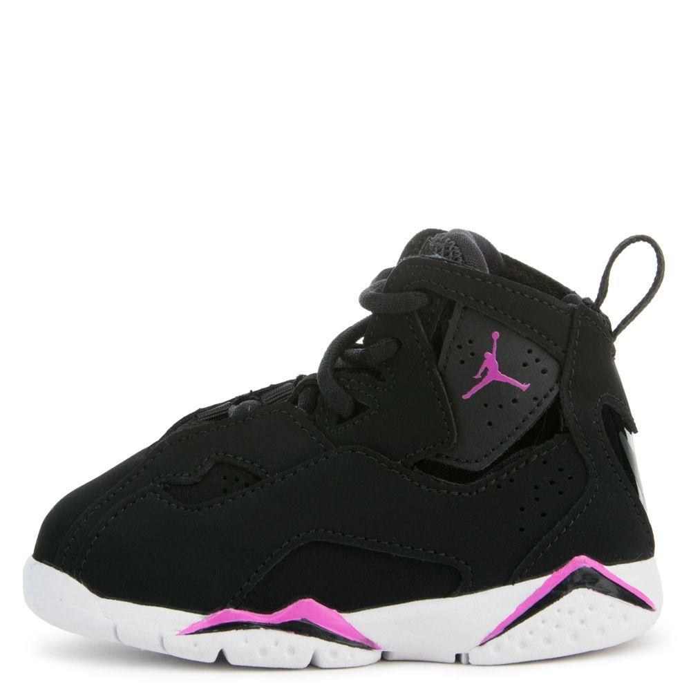 Nike Toddler First Flight (PS) Basketball Sneaker (4 Toddler M, Black/Black)