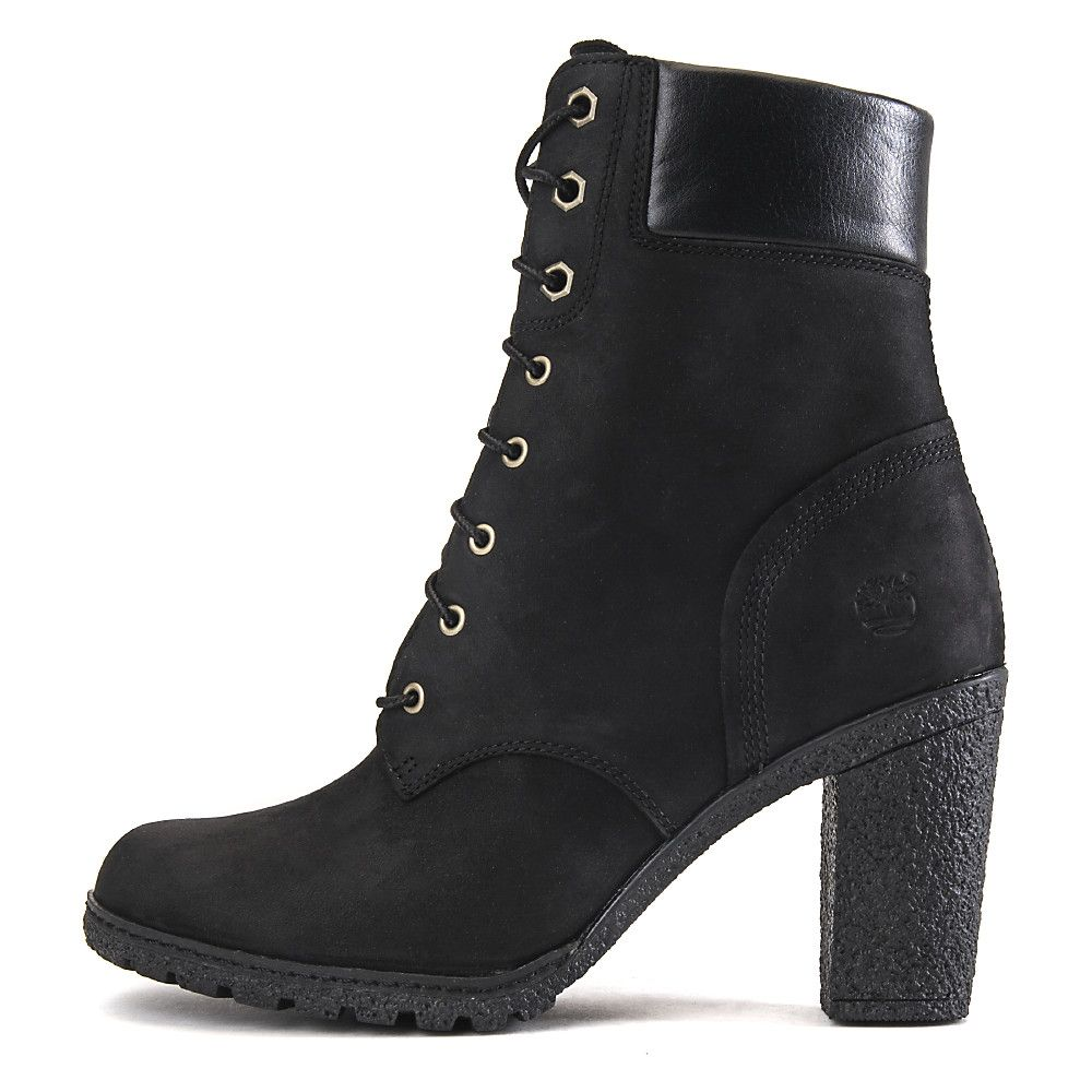 timberland glancy 6 in s black low heel ankle boots