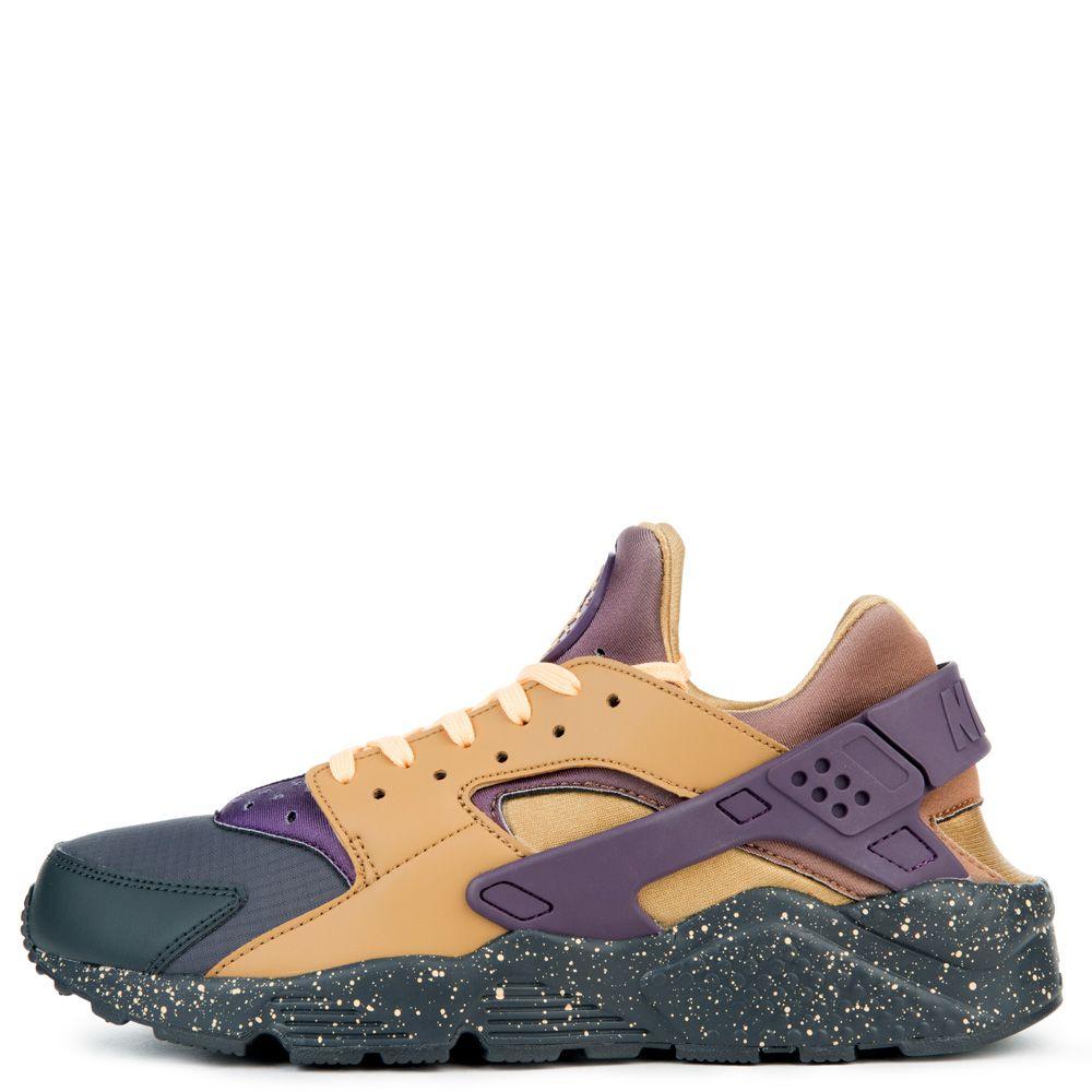 Men's Nike Air Huarache Run Premium Running Shoes -  Anthracite/Elemental Gold