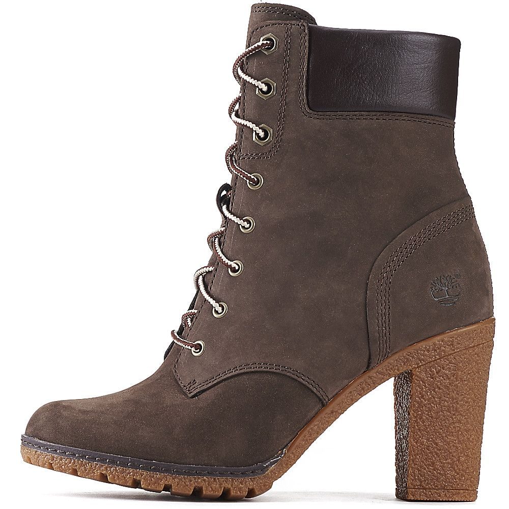 timberland glancy 6 in s brown low heel ankle boots