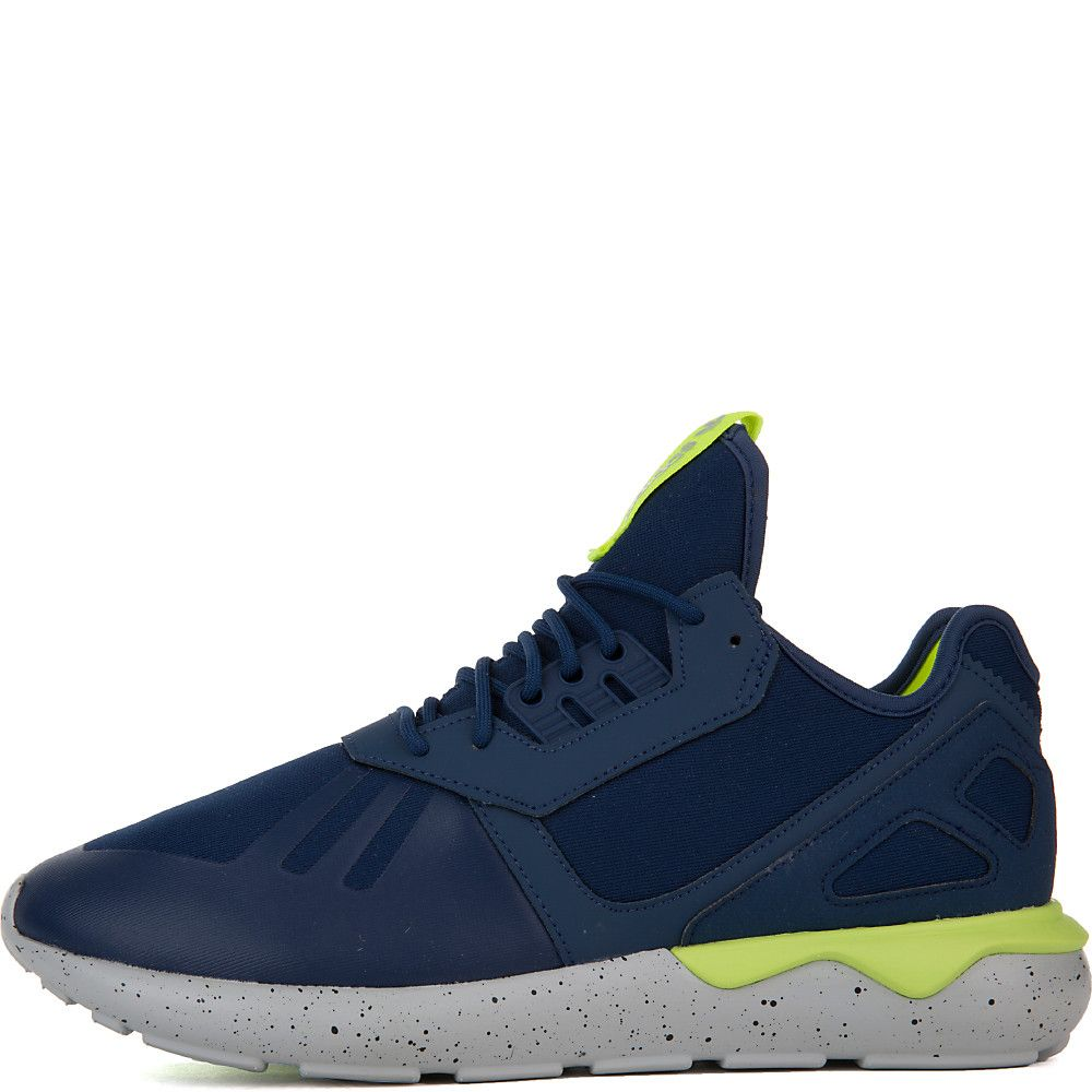 Men's Tubular Runner Athletic Running Sneaker Navy Blue/Neon Yellow/Grey