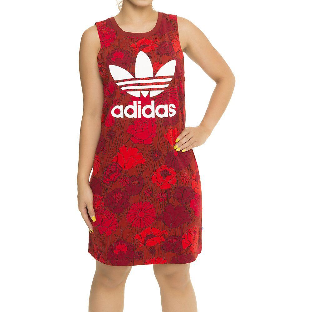 adidas white s trefoil tank dress shiekh