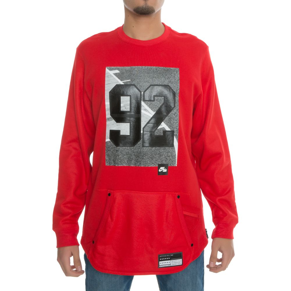 Nike Air Crew Long-Sleeve Basketball T-Shirt Red/Black