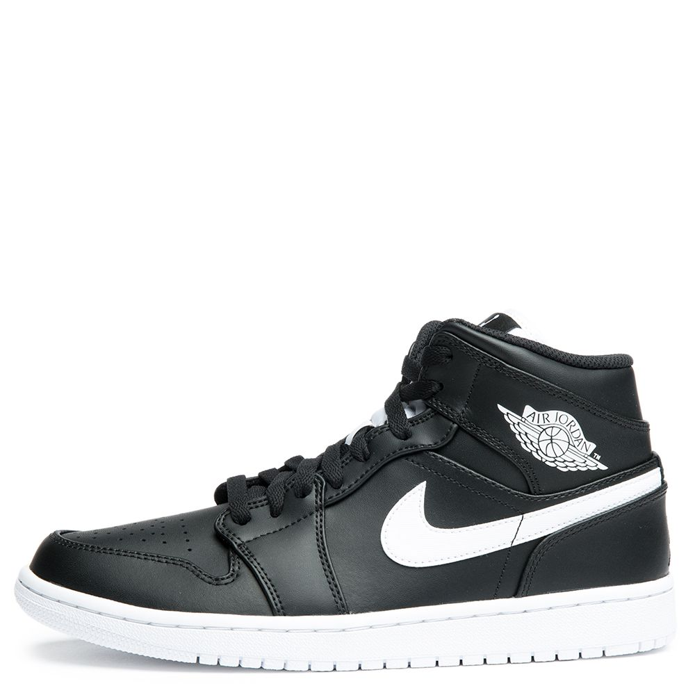 air jordan 1 mid black and white