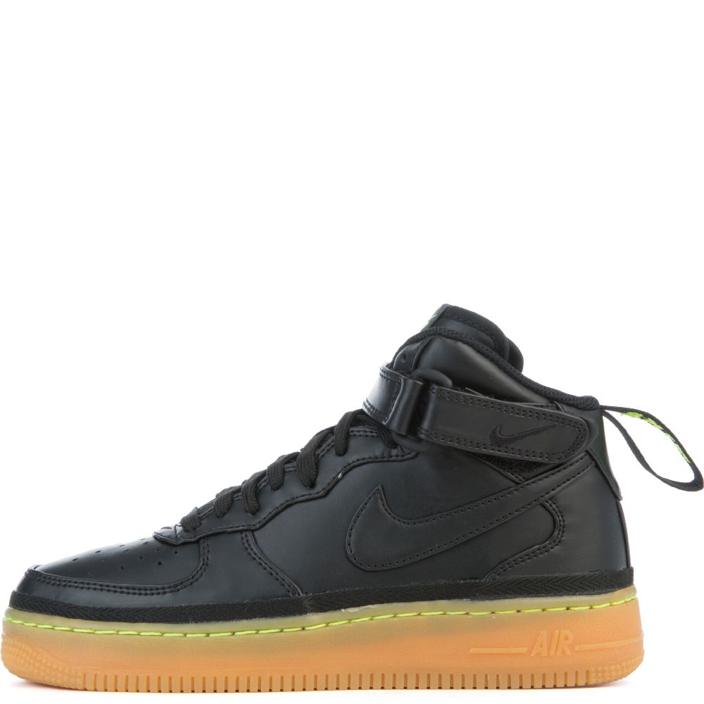 247c4fd6c18 All Black High Top Air Force Ones With Gum Bottom