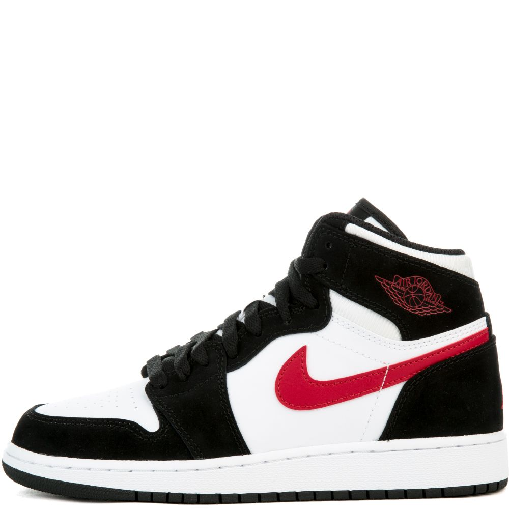 air jordan black white and red