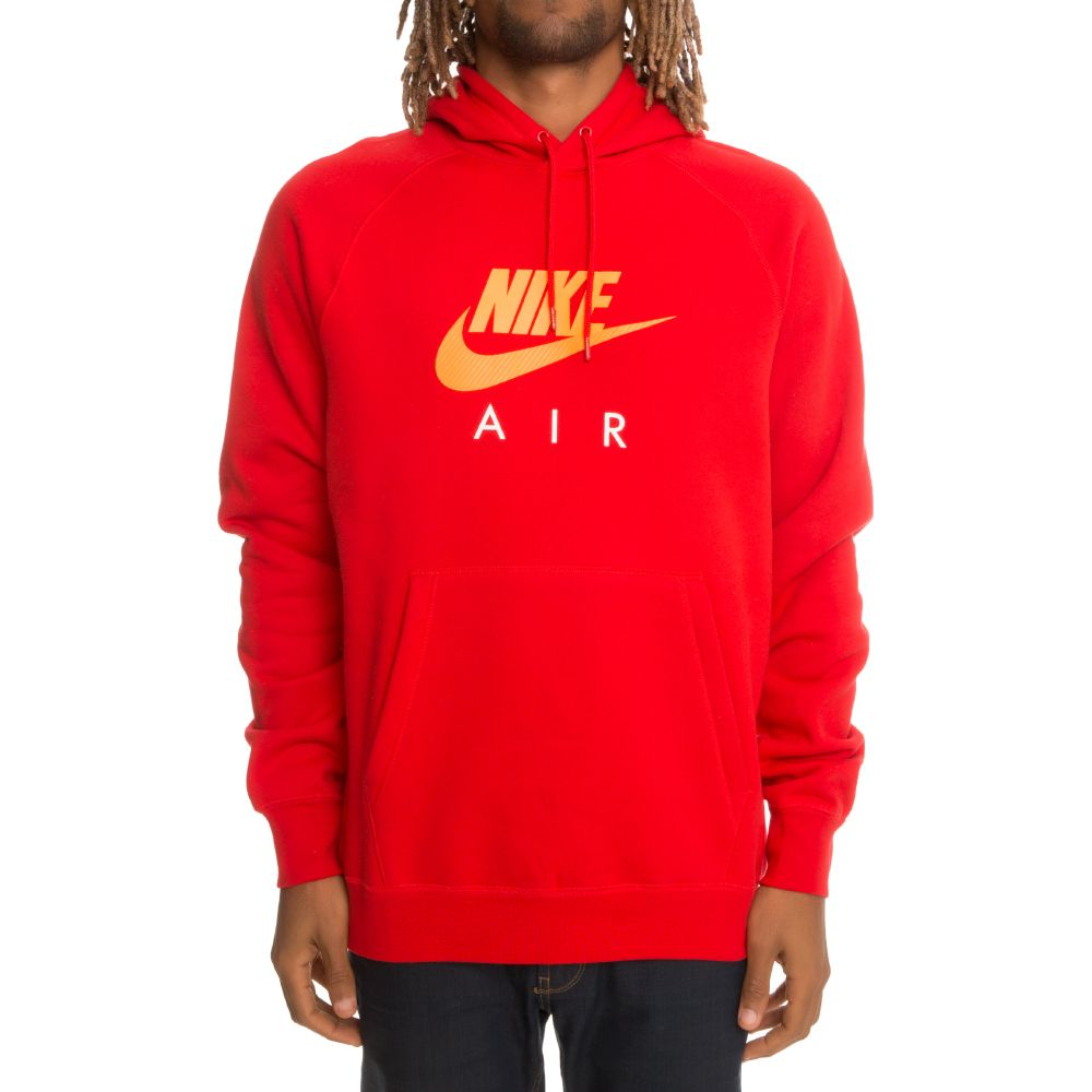 Nike Nike Sportswear Pullover Fleece Hoodie Red/White