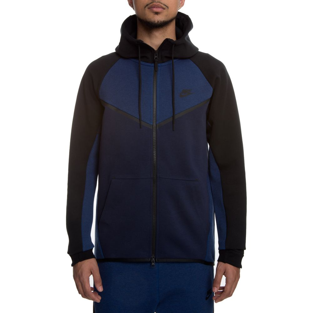 men 39 s nike tech fleece windrunner hoodie obsidianheather. Black Bedroom Furniture Sets. Home Design Ideas