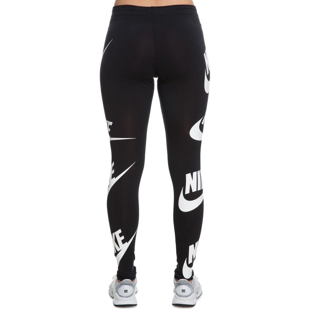 WOMEN\u0027S NIKE LEG A SEE LEGGINGS BLACK/WHITE. $49.99. In stock