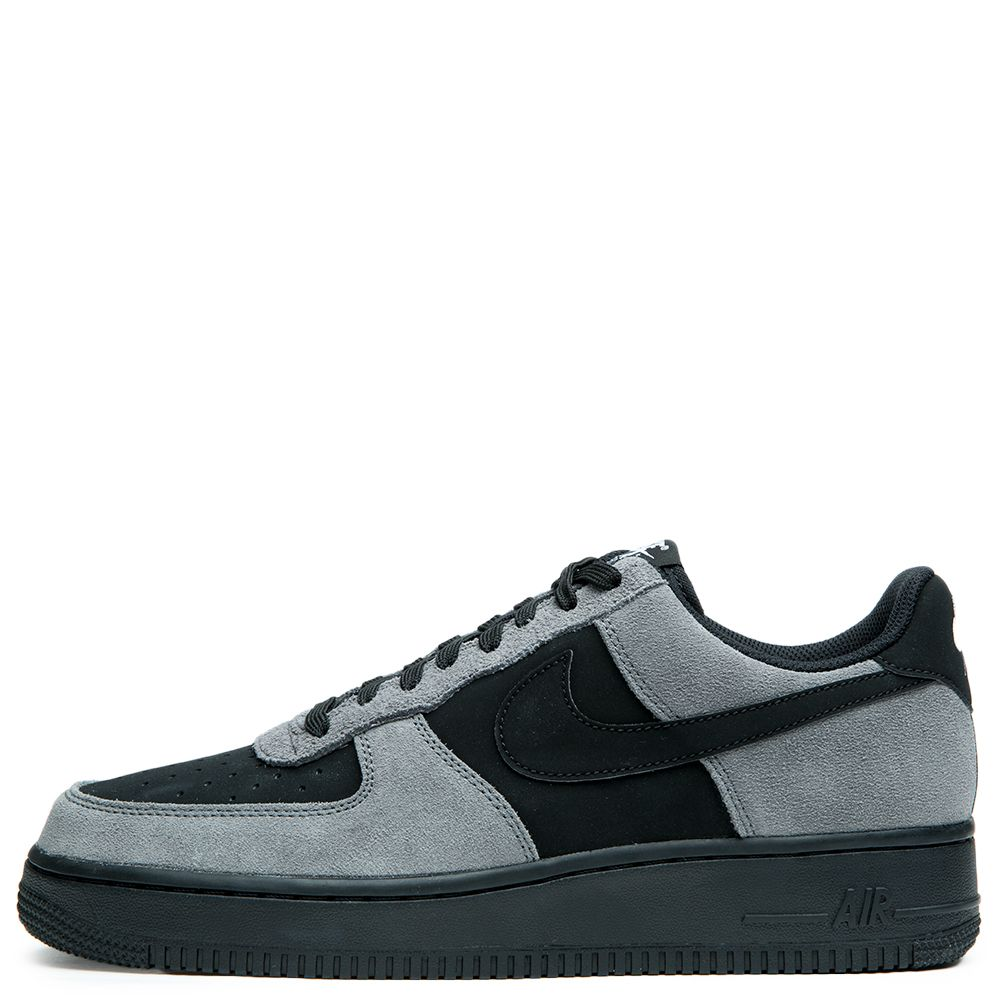 men 39 s nike air force 1 dark grey black white black. Black Bedroom Furniture Sets. Home Design Ideas