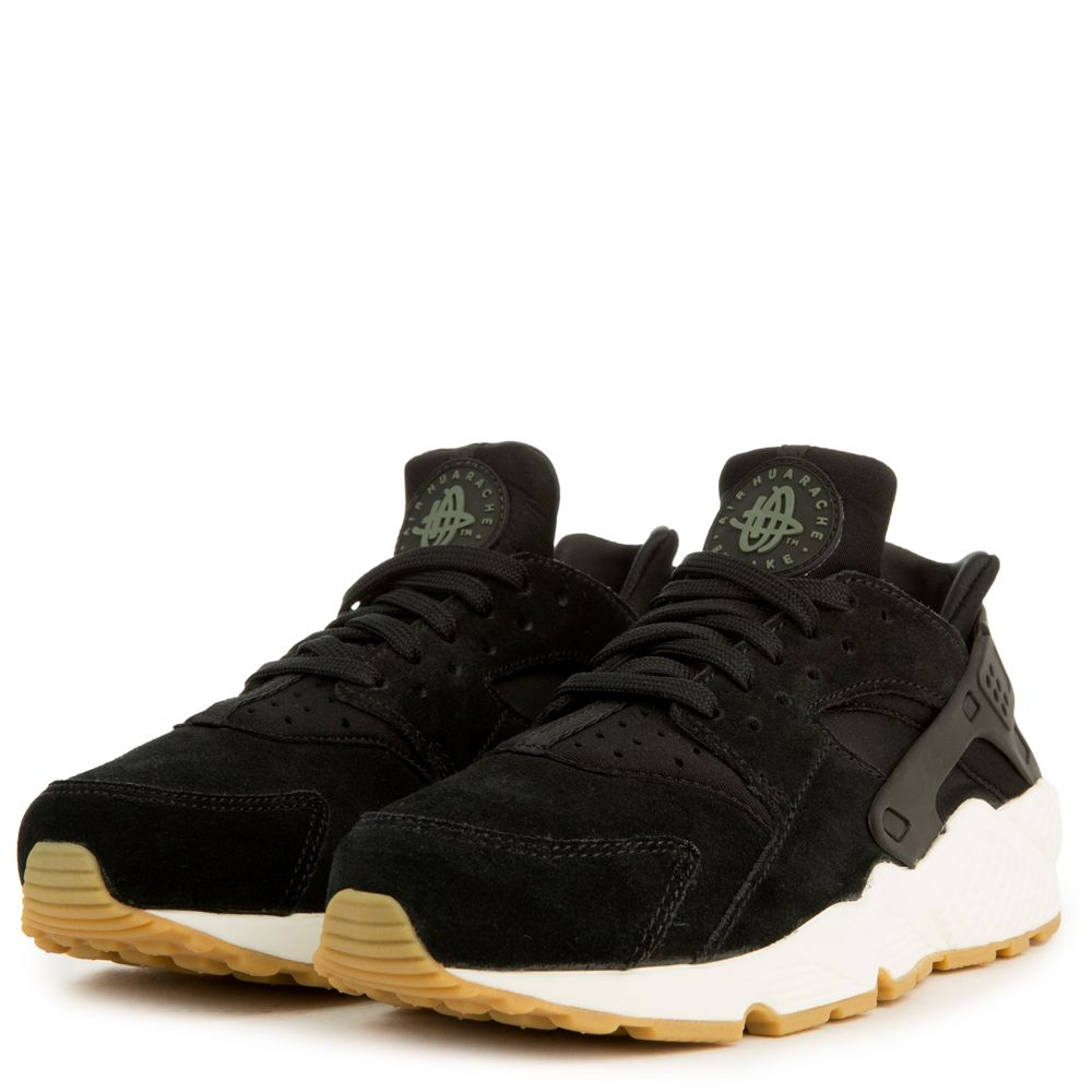 Nike SportswearAIR HUARACHE RUN SD - Trainers - black/deep green/sail/light brown XvkpbrA9ba
