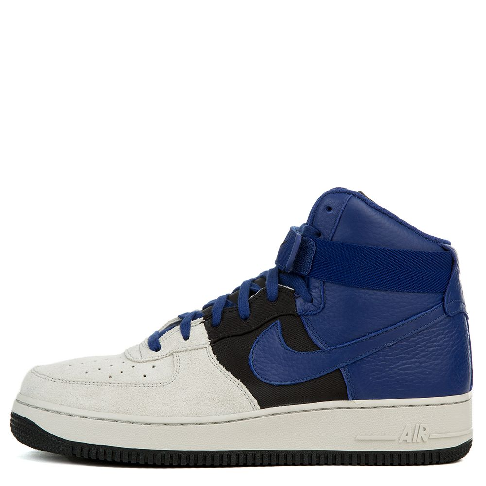 Nike Men's Air Force 1 High '07 Lv8 Pure/Platinum/Deep/Royal/Blue Basketball