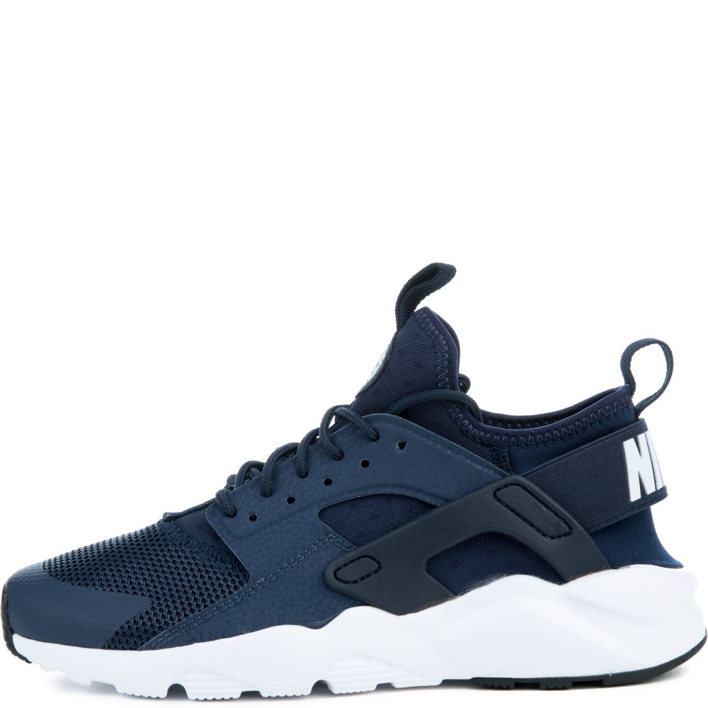 nike air huarache run ultra gs obsidian obsidian white black. Black Bedroom Furniture Sets. Home Design Ideas