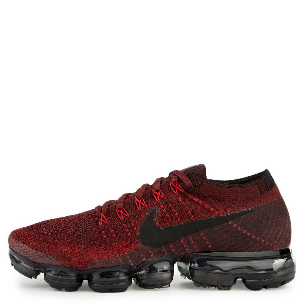 buy online e6483 0ba48 Nike Air Vapormax Plyknit Black University Red Men s Running Shoes
