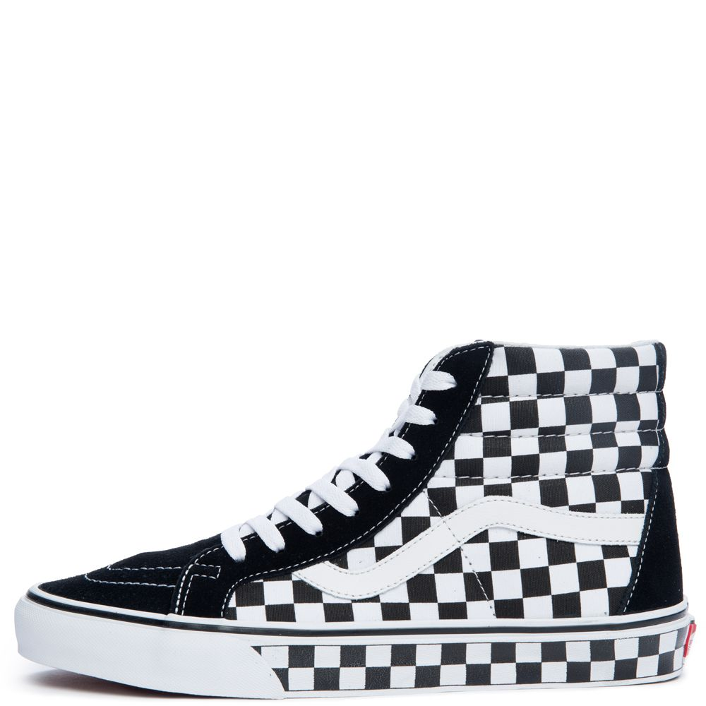 vans skate high black and white