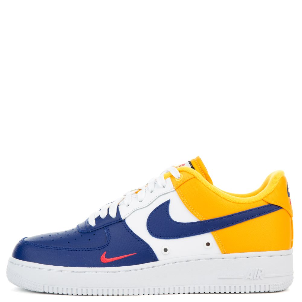 White and yellow Air Force 1 07 sneaker Nike z0kcQL3dD