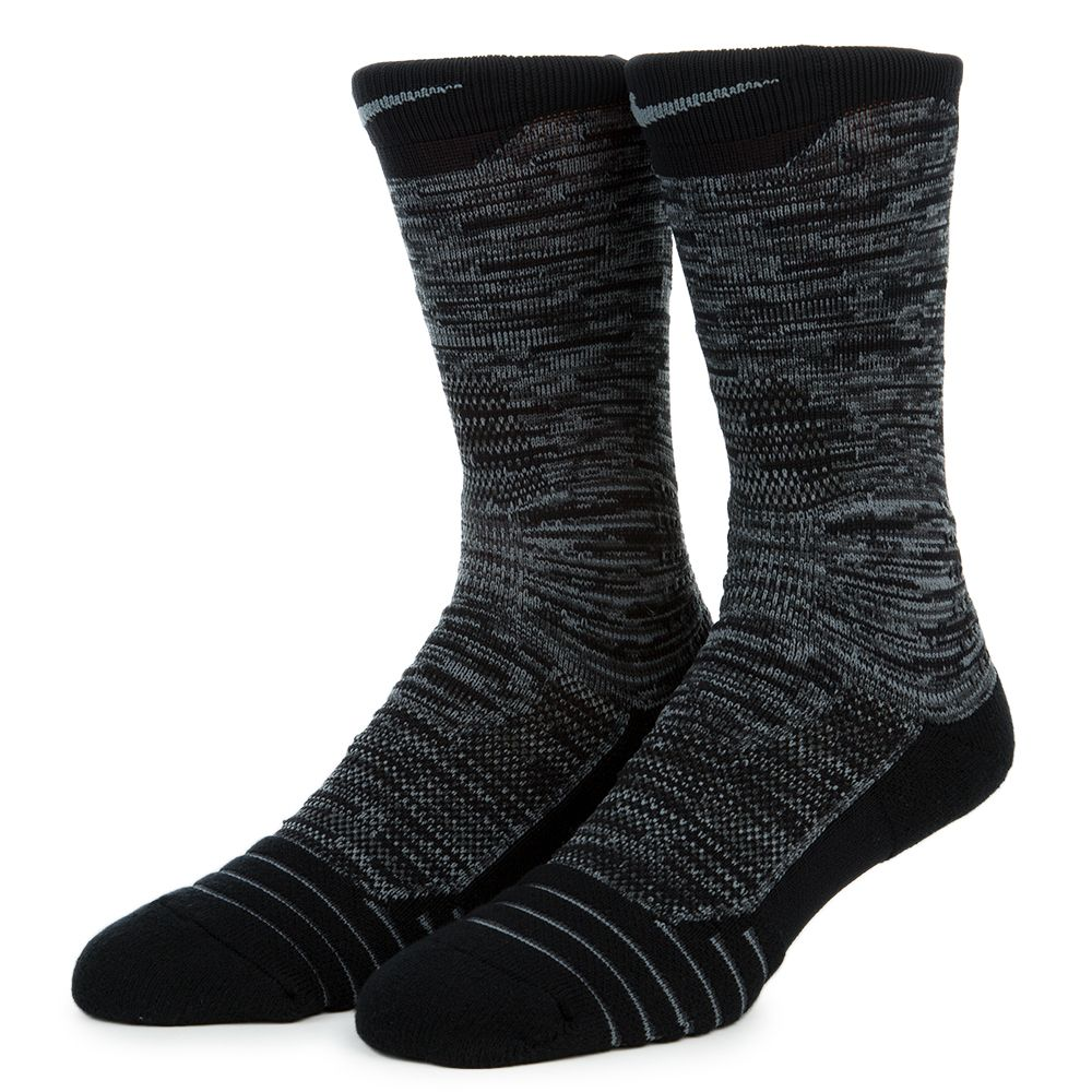 Men's Nike Elite Versatility Crew Sock Anthracite/Black ...