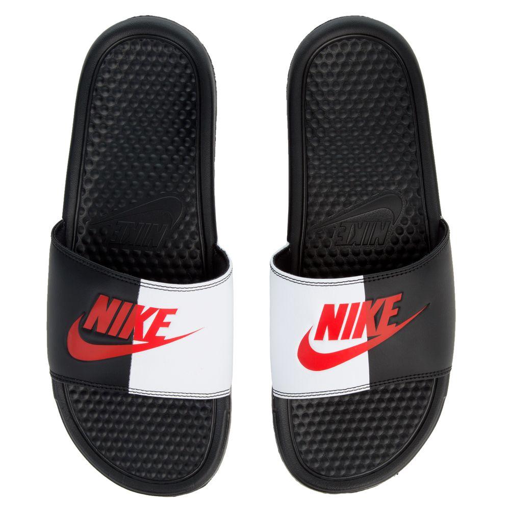 7abd8ae2197b4 Nike sliders Benassi JDI black game red - white 343880  Welcomes BENASSI ...