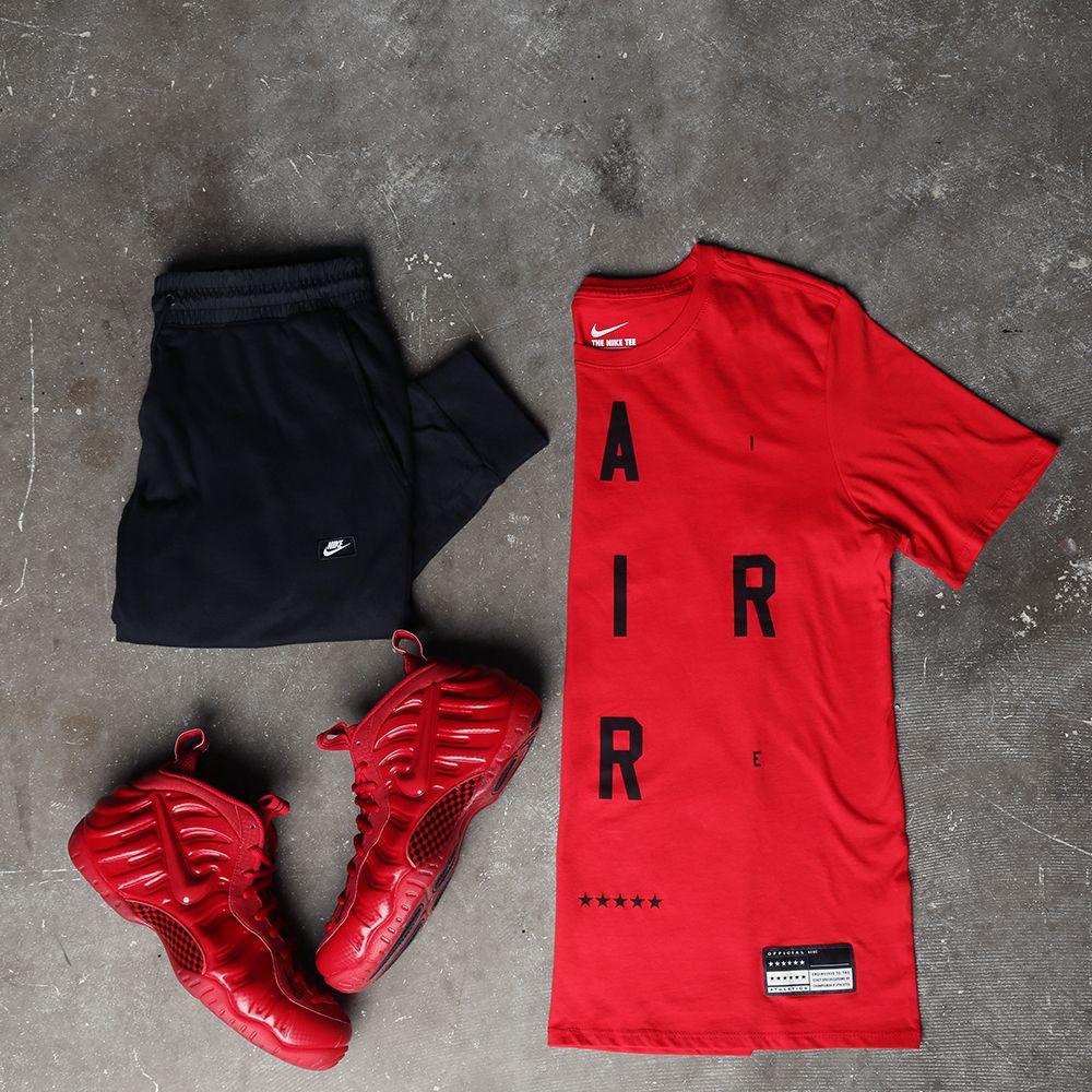 foamposite red