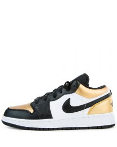 official photos 4192b e27b4 (GS) Air Jordan 1 Low Metallic Gold/Black-White