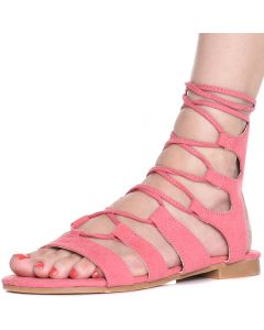 Up Pink Women's Lace Sandal 25 Emily IE29DHW
