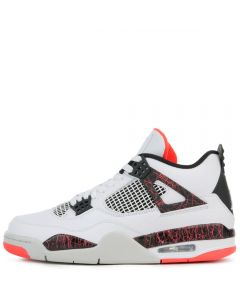 competitive price ca078 0e2f3 JORDAN 4 RETRO WHITE BLACK-BRIGHT CRIMSON-PALE CITRON