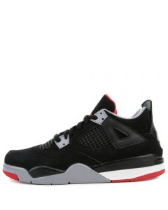 sports shoes 548bc 31c70 (PS) AIR JORDAN 4 RETRO BLACK FIRE RED-CEMENT GREY-SUMMIT