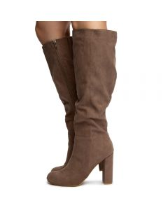 f00aae62eec LIVING-45S KNEE HIGH BOOTS TAUPE SUEDE