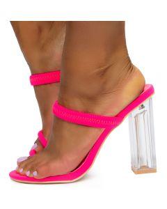 08fbdafffe900 Macaroon Clear Heels Pink