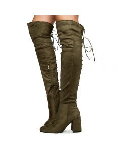 851695b9c5f Women's Belmont-020K Thigh High Boots Olive