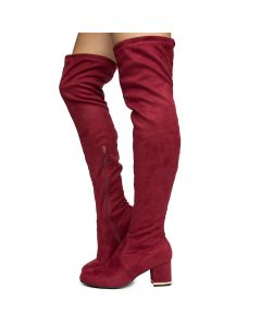 0ad9d21b Women's Autumn-18s Over The Knee Boots Wine