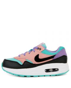 best service 7ed2f 4e4ce (PS) AIR MAX 1 BLACK WHITE-SPACE PURPLE-BLEACHED CORAL